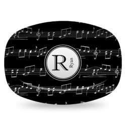 Musical Notes Plastic Platter - Microwave & Oven Safe Composite Polymer (Personalized)