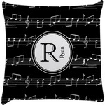 Musical Notes Decorative Pillow Case (Personalized)