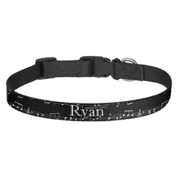 Musical Notes Dog Collar (Personalized)
