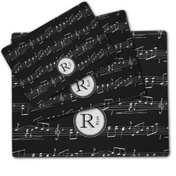 Musical Notes Dog Food Mat w/ Name and Initial