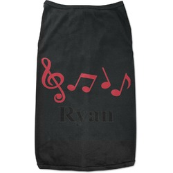 Musical Notes Black Pet Shirt (Personalized)