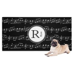 Musical Notes Dog Towel (Personalized)