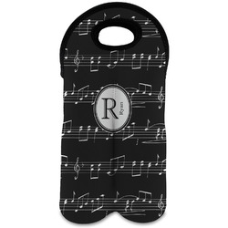 Musical Notes Wine Tote Bag (2 Bottles) (Personalized)