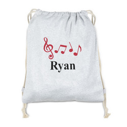 Musical Notes Drawstring Backpack - Sweatshirt Fleece (Personalized)
