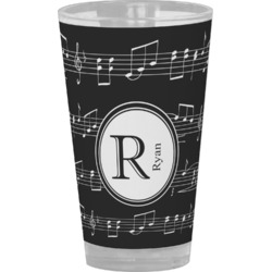 Musical Notes Drinking / Pint Glass (Personalized)