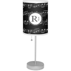 "Musical Notes 7"" Drum Lamp with Shade (Personalized)"