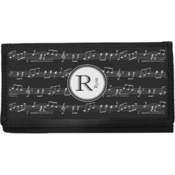 Musical Notes Canvas Checkbook Cover (Personalized)