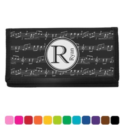 Musical Notes Checkbook Cover (Personalized)