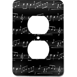 Musical Notes Electric Outlet Plate (Personalized)