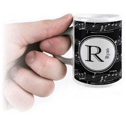 Musical Notes Espresso Mug - 3 oz (Personalized)