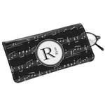 Musical Notes Genuine Leather Eyeglass Case (Personalized)
