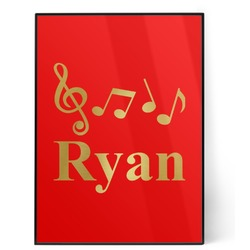 Musical Notes 5x7 Red Foil Print (Personalized)