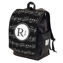 Musical Notes Backpack w/ Front Flap  (Personalized)