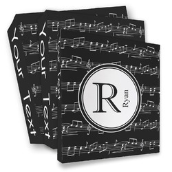 Musical Notes 3 Ring Binder - Full Wrap (Personalized)