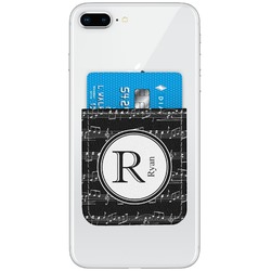 Musical Notes Genuine Leather Adhesive Phone Wallet (Personalized)