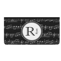 Musical Notes Genuine Leather Checkbook Cover (Personalized)