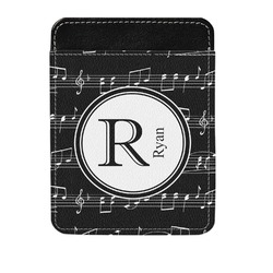 Musical Notes Genuine Leather Money Clip (Personalized)