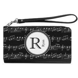 Musical Notes Genuine Leather Smartphone Wrist Wallet (Personalized)
