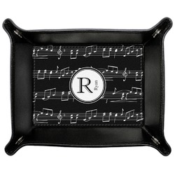 Musical Notes Genuine Leather Valet Tray (Personalized)