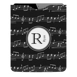 Musical Notes Genuine Leather iPad Sleeve (Personalized)