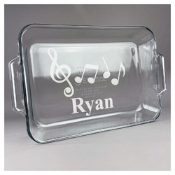 Musical Notes Glass Baking and Cake Dish (Personalized)