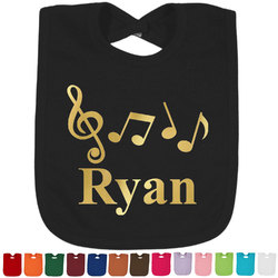 Musical Notes Foil Toddler Bibs (Select Foil Color) (Personalized)