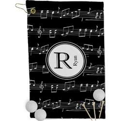 Musical Notes Golf Towel - Full Print (Personalized)