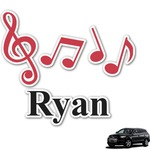 Musical Notes Graphic Car Decal (Personalized)