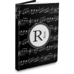 Musical Notes Hardbound Journal (Personalized)