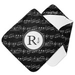Musical Notes Hooded Baby Towel (Personalized)