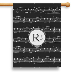 """Musical Notes 28"""" House Flag (Personalized)"""