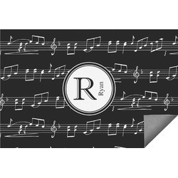 Musical Notes Indoor / Outdoor Rug (Personalized)