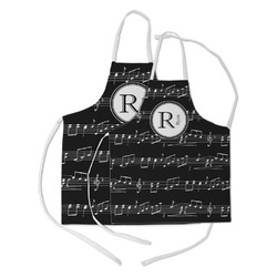 Musical Notes Kid's Apron w/ Name and Initial