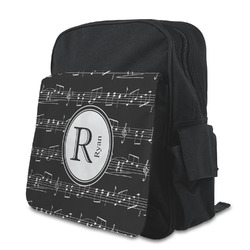 Musical Notes Kid's Backpack with Customizable Flap (Personalized)