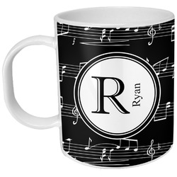 Musical Notes Plastic Kids Mug (Personalized)