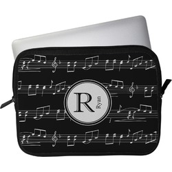 """Musical Notes Laptop Sleeve / Case - 12"""" (Personalized)"""