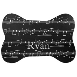 Musical Notes Bone Shaped Dog Food Mat (Personalized)