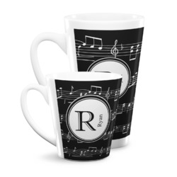 Musical Notes Latte Mug (Personalized)
