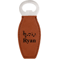 Musical Notes Leatherette Bottle Opener (Personalized)