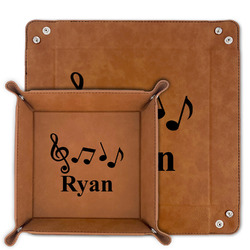 Musical Notes Faux Leather Valet Tray (Personalized)