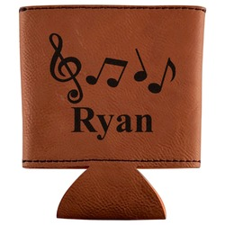Musical Notes Leatherette Can Sleeve (Personalized)