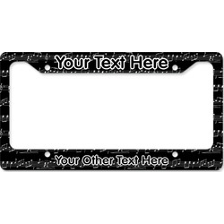 Musical Notes License Plate Frame - Style B (Personalized)