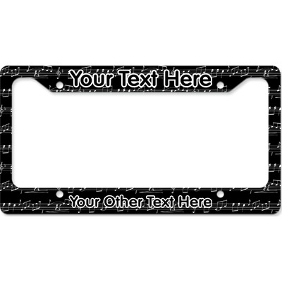 Musical Notes License Plate Frame (Personalized)