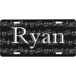 Musical Notes Front License Plate (Personalized)