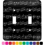 Musical Notes Light Switch Cover (2 Toggle Plate) (Personalized)