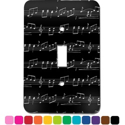 Musical Notes Light Switch Cover (Single Toggle) (Personalized)