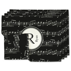 Musical Notes Linen Placemat w/ Name and Initial