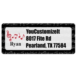 Musical Notes Return Address Labels (Personalized)