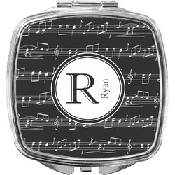 Musical Notes Compact Makeup Mirror (Personalized)