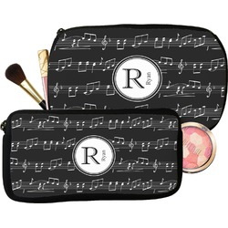 Musical Notes Makeup / Cosmetic Bag (Personalized)